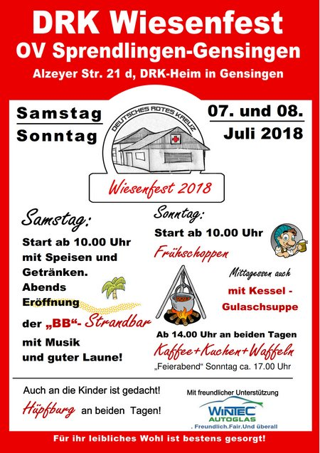 Wiesenfest Flyer 2018