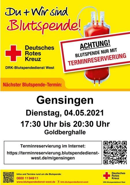 2021-03-29 Terminhinweis Gensingen 04.05